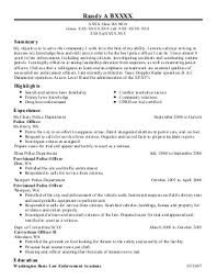 find resume examples in elma  wa   livecareerrandy a b    police officers resume   elma  washington