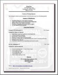 publishing printing resume  occupational examples  samples free    publishing printing resume publishing