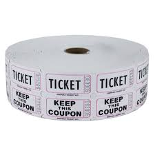 double raffle ticket roll white double raffle ticket roll