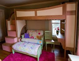 custom made girls twin loft bunk bed with stairs futon and desk bunk beds stairs desk