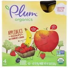 Plum Organics <b>Organic Applesauce Mashups</b> Strawberry&Banana
