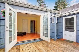 elegant double glass doors brighten dark room