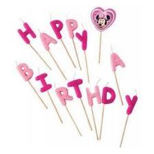 <b>Свечи</b>-<b>буквы Procos</b> 80531 Кафе Минни Happy Birthday — купить ...
