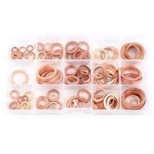 150Pcs 15 Sizes <b>Flat</b> Ring Copper <b>Washers</b>, Walfront <b>Metal</b> ...