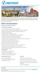 cv keskus t ouml ouml pakkumine senior java developer toumloumlpakkumise number