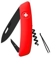 Купить <b>Швейцарский нож SWIZA D01</b> AllBlack, 95 мм, 6 функций ...