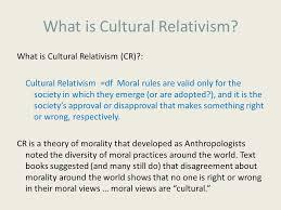 Cultural relativism morality essay