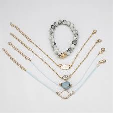 5pcs Women's Bead Bracelet <b>Vintage</b> Bracelet Earrings / Bracelet ...