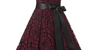 Dresstells® Women's Christmas Vintage 1950s Pleated Lace ...