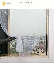 AirZun White Curtain <b>Insect Mosquito Self-Adhesive</b> Door Window ...