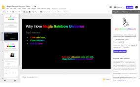 Magic <b>Rainbow Unicorns</b> Slides - Google Workspace Marketplace