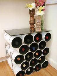 view in gallery diy pipe wine storage table arched table top wine cellar furniture