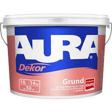 <b>Грунт</b> для декоративных покрытий <b>Aura Decor Grund</b> 10л -14кг ...