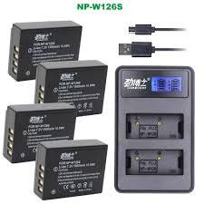 2Pcs <b>NP W126S NP W126 NP W126S</b> Batteries + <b>USB</b> Dual ...