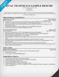 hvac technician sample resume hvac technician resume samples maintenance technician resume occupationalexamples samples hvac technician sample resume