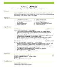 teacher resume objective sample math teacher resume objective math resume example for a new teacher top resume objectives good math teacher resume objective examples math