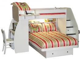 image of bunk beds with stairs and desk under the bed bunk beds desk