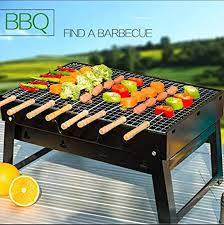 <b>Portable Barbecue Charcoal Grill Foldable</b> Lightweight <b>Large</b> Skillet ...