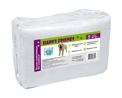 <b>Пеленки</b> впитывающие для животных <b>Happy Friends</b>, (60х40 см ...
