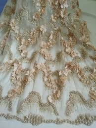<b>3D</b> lace fabric <b>Beaded</b> Lace Fabric <b>white</b> lace fabric <b>Hand</b> made