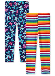 Capri Leggings 2-Pack Printing Flower Girl Leggings ... - Amazon.com