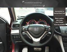 BANNIS <b>Black Artificial Leather</b> DIY <b>Hand</b>-<b>stitched</b> Steering Wheel ...