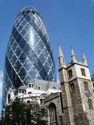 """Kết quả hình ảnh cho Tòa tháp Gherkin nhìn như một """"quả dưa chuột"""""""