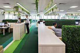 At Credit Suisse Hedges And Hanging Planters Bring Greenery Into The Open Workplace
