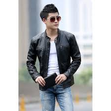 Men's <b>Leather</b> Jackets Men <b>Stand Collar</b> Coats Male <b>Motorcycle</b> ...