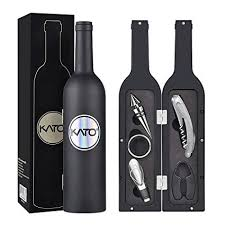 <b>5 Pcs</b>/set Deluxe Wine Accessory Gift Set - Wine <b>Bottle</b> Corkscrew ...