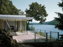Awesome Modern Residence Clad in Glass that Offers Lake Views in        Building Plans Small Designs Architecture Large size Charming Deck Space Design Ideas Outside The Lake House Home Interior Decorating