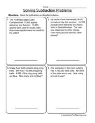 Word Problems Worksheet - Have Fun TeachingSubtraction Word Problems Worksheet 2