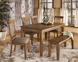 4 Piece Dining Room Sets Floral Pattern Rug Under Rectangle Clear Coating Dining Table With