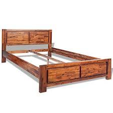 vidaXL <b>Bed Frame</b> Base Home Bedroom Furniture <b>Solid Acacia</b> ...