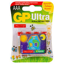 <b>Батарейка</b> алкалиновая <b>GP Ultra</b> AАA 24 А и магнит, 4 шт. в ...