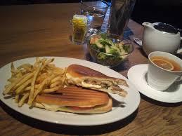 home made bacon mozzarella cheese panini lunch set at blue books sn3o5123
