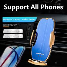 Automatic clamping <b>Magnetic 15W Car</b> Wireless Charger navigation ...