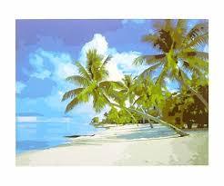 <b>Картина по номерам</b> 40*50 Тропический рай холст на ...