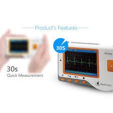 Portable <b>Heal Force Prince</b> Handheld 180B ECG EKG Monitor ...