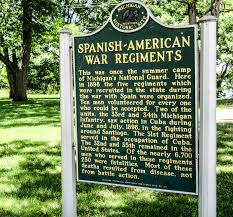 midwest guest  spanish american war marker at island lake 2 of 3