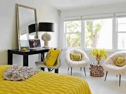 yellow and gray bedroom:  original tara seawright yellow black white bedroomjpgrendhgtvcom