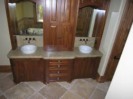 design basin bathroom sink vanities: astounding design of the bathroom vanities with brown wooden cabinets and vanities added with white sink