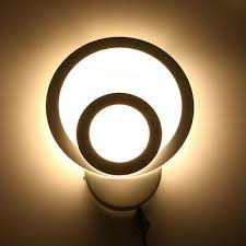 <b>Acrylic</b> Round LED <b>Bedroom Bedside Wall</b> Lamp Simple Modern ...