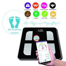 Kabalo Bluetooth Black <b>180kg</b> Capacity Electronic <b>BODY FAT Scale</b> ...