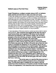 reflective essay on quotthe little princequot   gcse health and social  page  zoom in