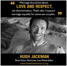 Queerability — Image is a picture of Hugh Jackman with a quote... via Relatably.com