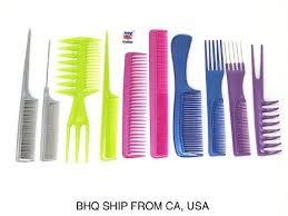 <b>10pcs</b> Color <b>Professional</b> Combs <b>Hairdressing Hair Salon</b> Styling ...