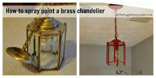 how to spray paint a brass light fixture or the red chandelier in brass lighting fixtures