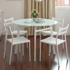 metal dining room chairs chrome: small kitchen table and chairs for four backrest combined metal chrome table small black glass kitchen