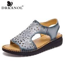 <b>DRKANOL</b> New Vintage Summer <b>Women</b> Wedge <b>Sandals</b> ...